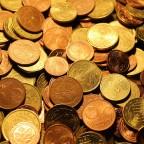 Ein Berg Euromünzen